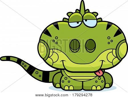 Cartoon Goofy Iguana