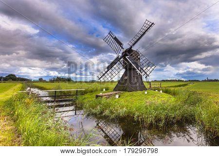Historic Wooden Windmill