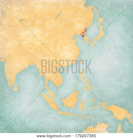 Map Of East Asia - North Korea