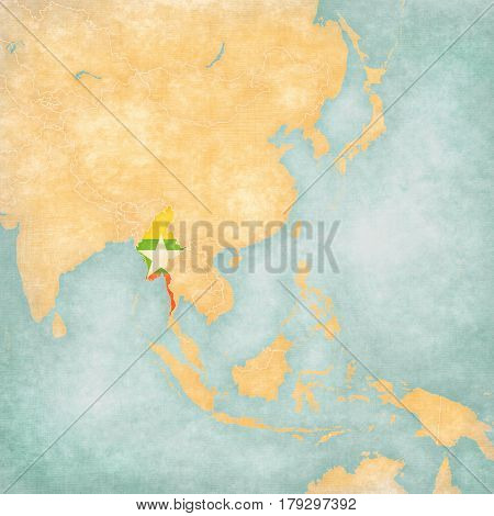 Map Of East Asia - Myanmar