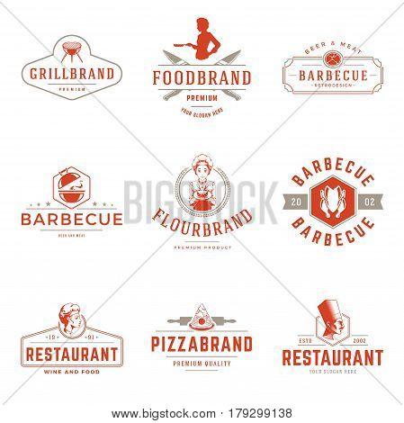 Restaurant Logos Vector Photo Free Trial Bigstock