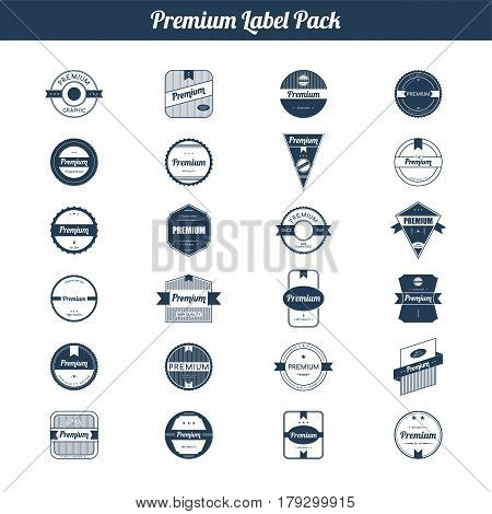 Premium Quality And Guarantee Product Label And Badge Emblem Sticker Stamp Set Collection