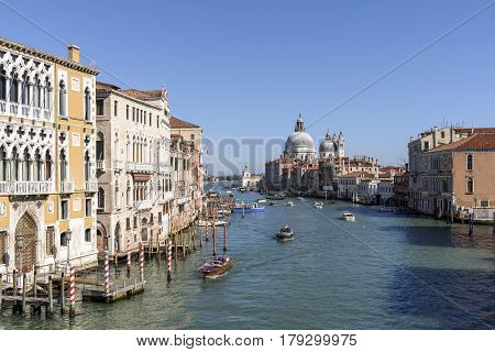 the nice view from the Accademia Bridge in Venice