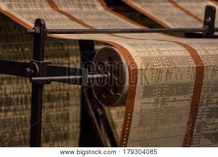 The Perforated Paper Tape Of An Old Device
