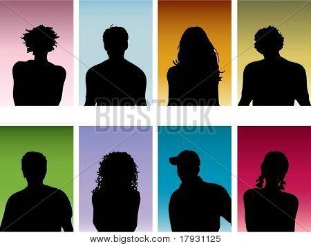 Peoples portraits