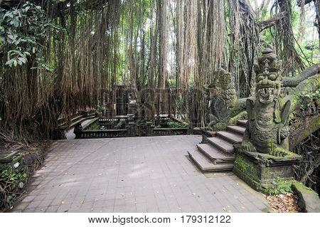 Dragon Bridge In Sacred Monkey Forest Sanctuary, Ubud, Bali