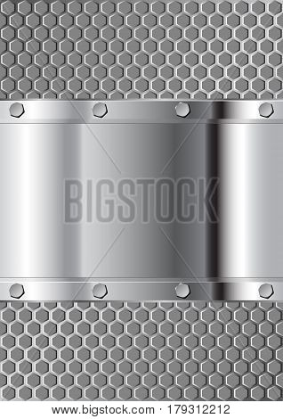 metal background and grate texture - vector illustration