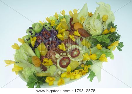 fatigue relieving special salad & crocus salad