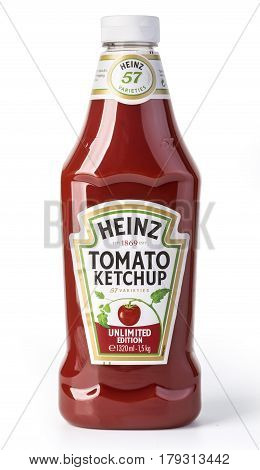 A Bottle Of Heinz Ketchup Isolated