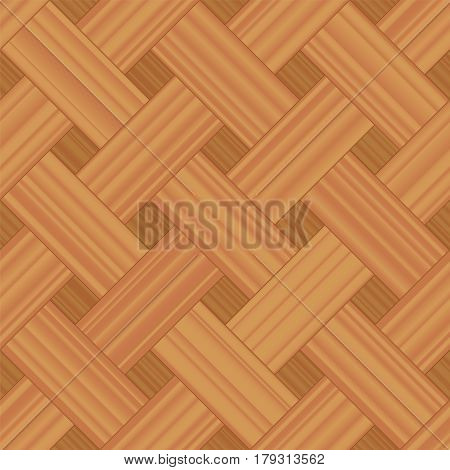 Basket weave parquet pattern - vector illustration of a seamless extensible wooden floor sample.