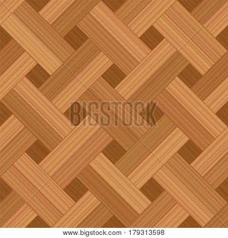 Parquet pattern, basket weave double row style - vector illustration of an extraordinary wood flooring pattern - seamless extension in all directions possible for an endless background.