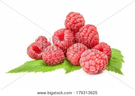 Juicy raspberry isolated on a white background cutout