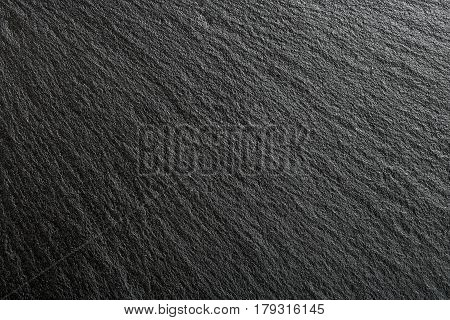 closeup of black slate texture for backgrounds