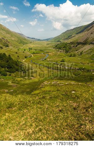 Nant Ffrancon Pass From Idwal Cottage