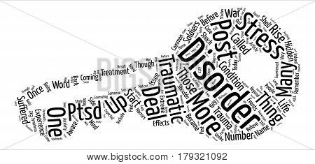 What Is Post Traumatic Stress Disorder text background word cloud concept