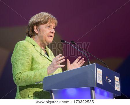 Chancellor Of  Federal Republic Of Germany Angela Merkel