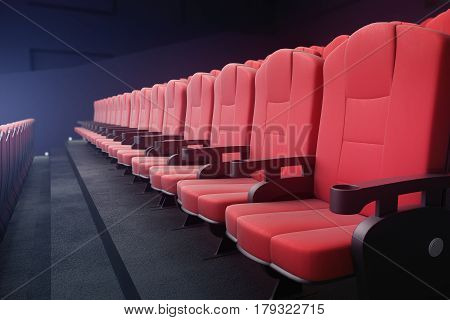 Red Cinema Chairs Side