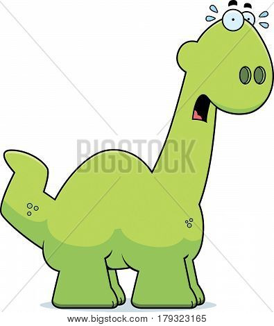 Scared Cartoon Apatosaurus