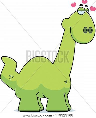 Cartoon Apatosaurus In Love
