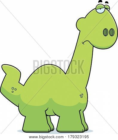 Sad Cartoon Apatosaurus