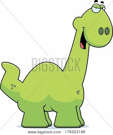 Sly Cartoon Apatosaurus