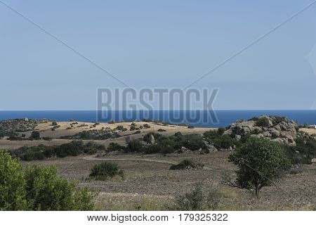 Costa Rei - Sardinia - Italy - panorama view from the hinterland