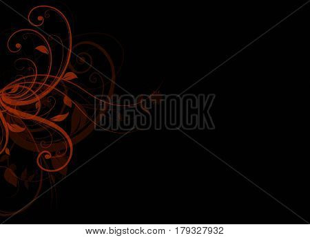 Elegant background black and red design with space for your text