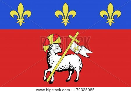Flag of Rouen is a city on the River Seine in the north of France. It is the capital of the region of Normandy.