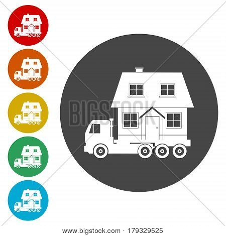 Shipping service, delivery service, simple vector illustration