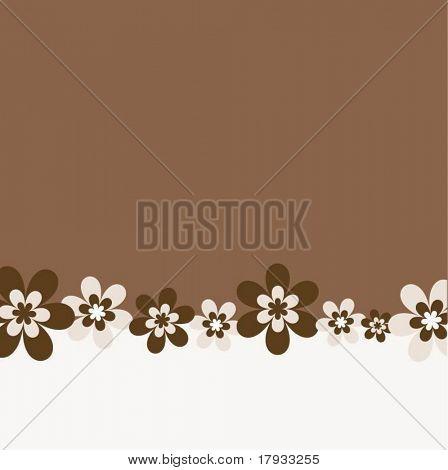 Retro flowers - background