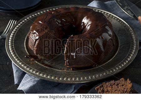 Sweet Homemade Dark Chocolate Bundt Cake