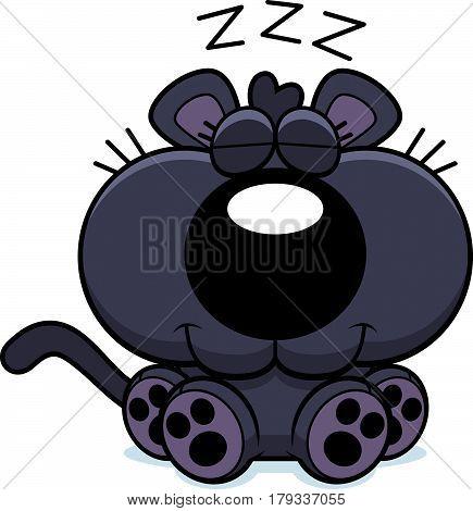 Cartoon Panther Napping