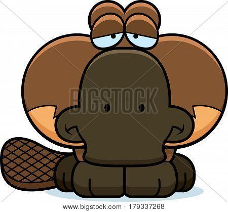 Cartoon Sad Platypus