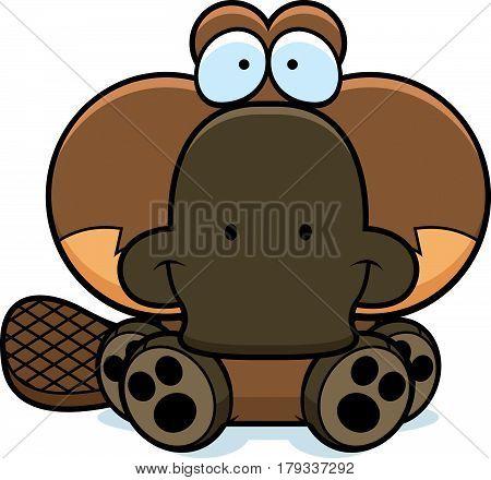 Cartoon Platypus Sitting
