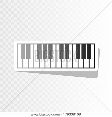 Piano Keyboard sign. Vector. New year blackish icon on transparent background with transition.