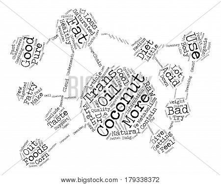 Whats Cool About Coconuts Word Cloud Concept Text Background