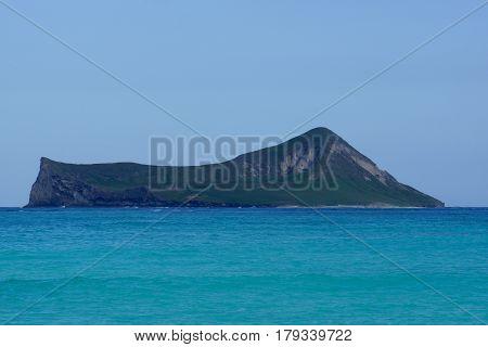 Rabbit Island Manana in Waimanalo Bay off the coast of Oahu Hawaii