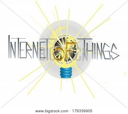 Internet of things bitmap illustration, symbol and inscription.