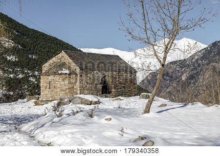 Roman Church of Sant Quirc de Taull In el Pla de la Ermita (Catalonia - Spain).