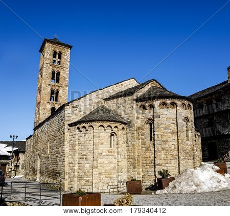 Roman Church of Santa Maria de Taull (Catalonia - Spain). This is one of the nine churches which belongs to the UNESCO World Heritage Site.