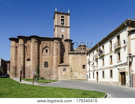 Najera Plaza Mayor The way of Saint James in La Rioja of Spain