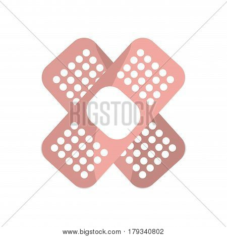 pink aid band protection tool, vector illustration