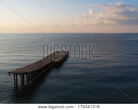 Earlier The Morning On The Black Sea In The Crimea In The Bakhchisarai Area: A Calm Blue Water Surfa