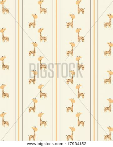 Vector Retro seamless giraffe pattern
