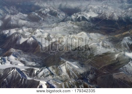 High Mountain Ranges And Deep Valleys Of Photographing Fishing Rod: Snow-covered Peaks Of Glaciers,