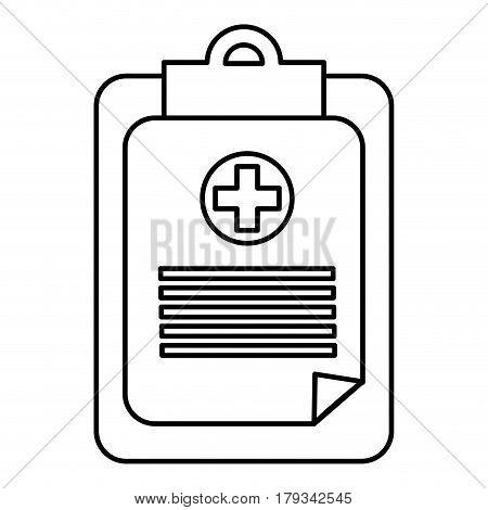 figure hospital prescription pad icon, vector illustration