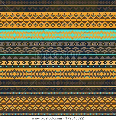 Color tribal vector seamless pattern. Hawaiian fancy abstract geometric art print. Ethnic hipster backdrop.
