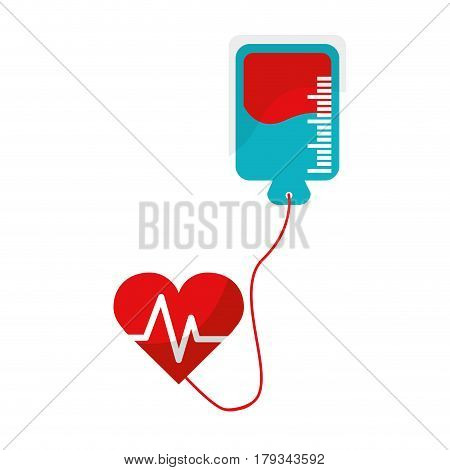 red blood donation medical transfusion, vector illustration design