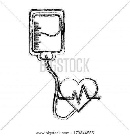 silhouette blood donation medical transfusion, vector illustration design