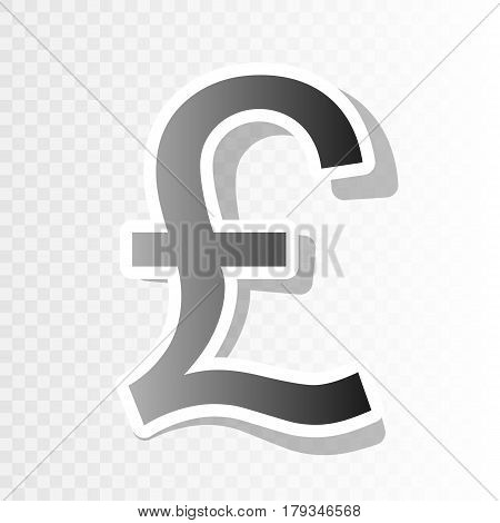 Turkish lira sign. Vector. New year blackish icon on transparent background with transition.